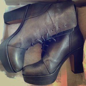 Fiorentini + Baker boots 37 gray black lace up NIB
